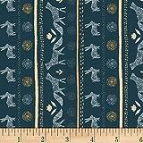 Dear Stella Designs Stay Wild Fox Stripe Eclipse Fabric by The Yard