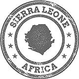 Sierra Leone Map Africa Grunge Rubber Stamp Home Decal Vinyl Sticker 12'' X 12''