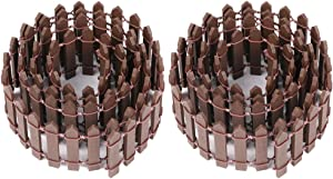 Ymeibe 35 Inch 2-Pack Miniature Fairy Garden Fence Wood Decorative Ornament Fence for Dollhouse Succulent Plant Pot DIY Diorama Project Height 2 inch (Brown)