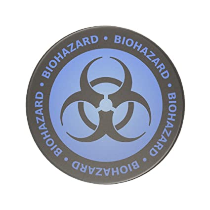 Amazon Zazzle Blue Biohazard Warning Coaster Coasters