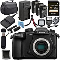 Panasonic Lumix DC-GH5S Mirrorless Micro Four Thirds Digital Camera + Panasonic Leica DG Vario-Elmarit 12-60mm f/2.8-4 ASPH. POWER O.I.S. Lens + DMW-BLF19 Lithium Ion Battery + 128GB SDXC Card Bundle