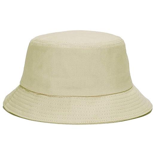 6c0d1d056e3 Unisex Bucket Hat Cotton Fishing Brim Visor Hat UN Protection Hat  Breathable Sport Cap Summer Solid
