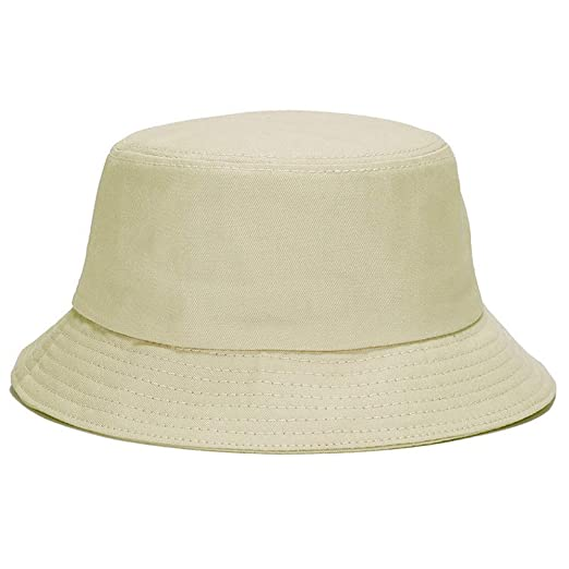 2750c36cfbb6b7 Unisex Bucket Hat Cotton Fishing Brim Visor Hat UN Protection Hat  Breathable Sport Cap Summer Solid