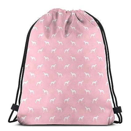 bfb0914911b5 Amazon.com | Blossom Greyhound Dog Silhouette Fabric_3005 Drawstring ...