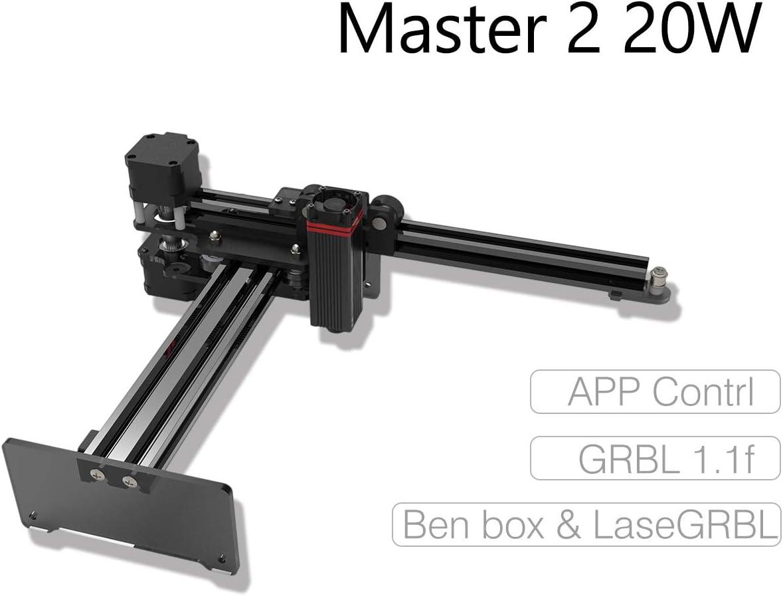 NEJE Master 20W Laser Cutter Desktop CNC Laser Engraving Machine Mini Carver Laser Engraver Cutter DIY Logo Marker Printer APP Control for Windows, Mac, Android, Wood Cutting,Large Working Area