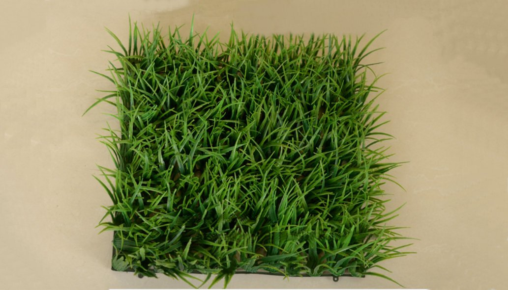 25 X 25CM Artificial Seeding Grass Hedge Plant Privacy Fence Screen Greenery Panels Suitable for Both Outdoor or Indoor, garden or backyard Wall and home decor (64)