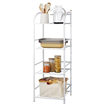 Lifewit 4 Tier Multifunctional Shelving Unit, Free Standing Storage Tower  Rack For Kitchen /