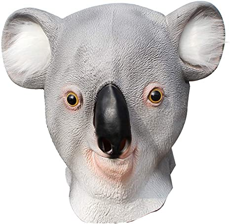 NFY Halloween Koala Máscara Animal Látex Prop Traje Mascarada ...