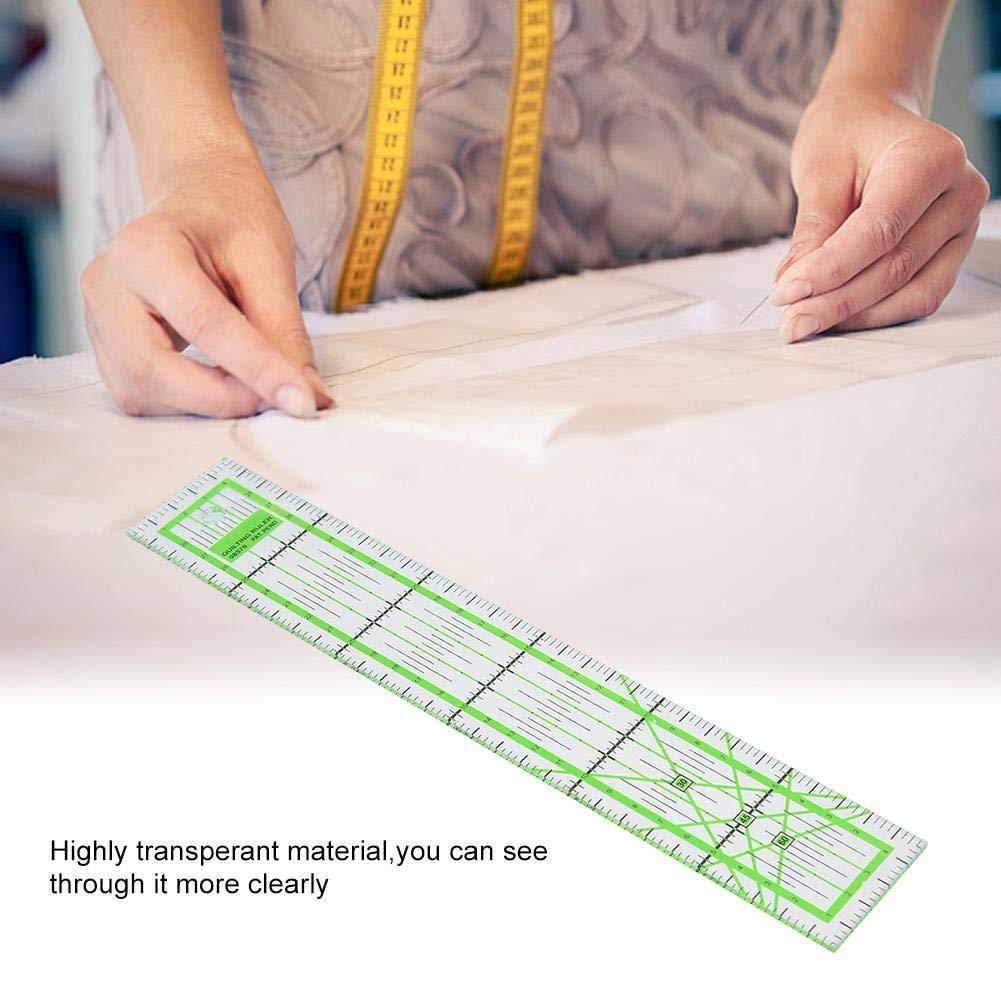 Acryl Quilters Lineal Hohe Transparente Schneiderin Quilting Tool DIY N/ähen Lineal f/ür Einfache Pr/äzisionsschneiden 30cm Quilting Lineal 5