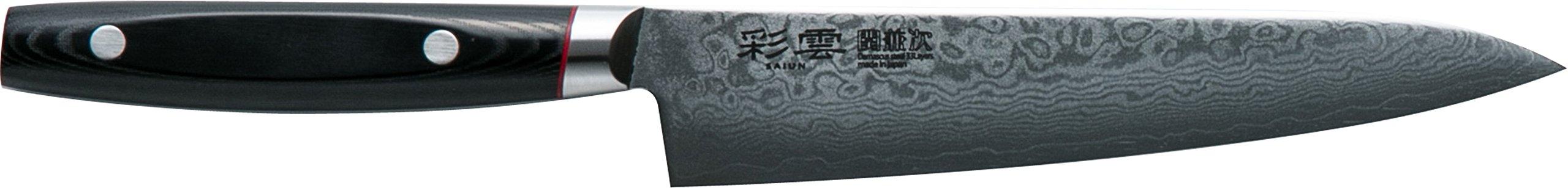 関兼次 Seki Kenji Hamono Japanese Knife ''Saiun'' Damascus Steel Stainless VG-10 Made in Japan (Petit Knife 150mm) Made in Japan