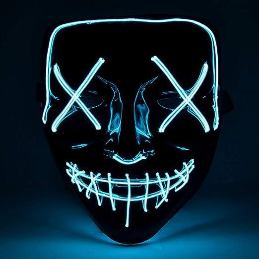 ZHIYONGJ Máscara LED Halloween, máscara de Purga de mascarillas ...