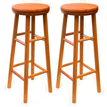 Astonishing Amazon Com Wooden Bar Stool Set Of 2 Kitchen Counter Stools Pabps2019 Chair Design Images Pabps2019Com