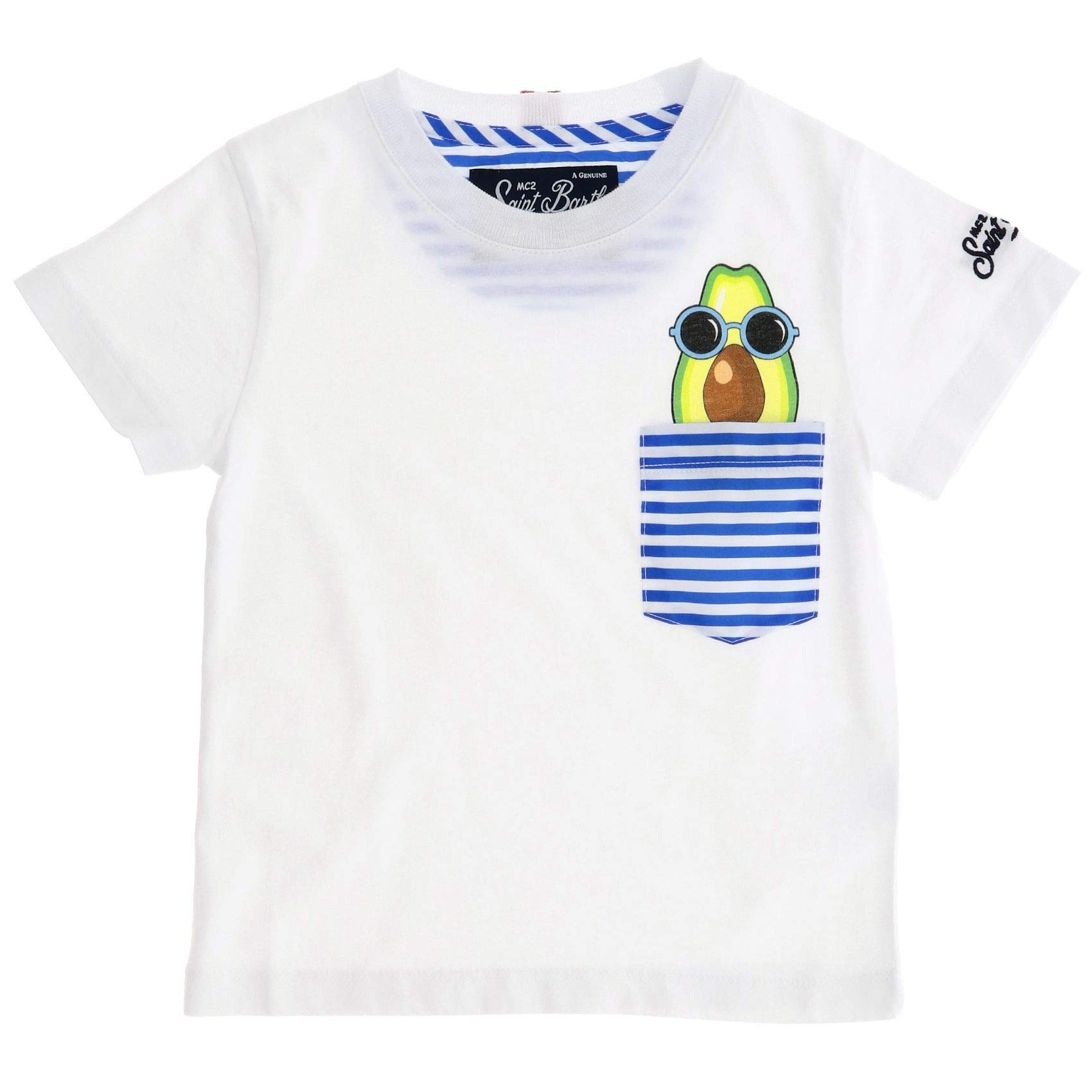 MC2 SAINT BARTH Boys Kea01avocadosunglasses White Cotton T-Shirt