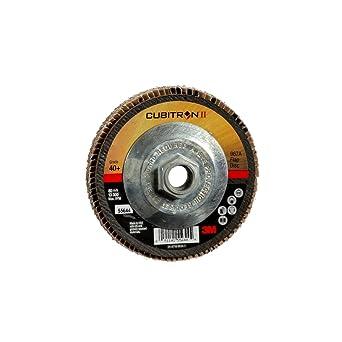10 per case T29 3M Cubitron II Flap Disc 967A 4 in x 5//8 in 40+