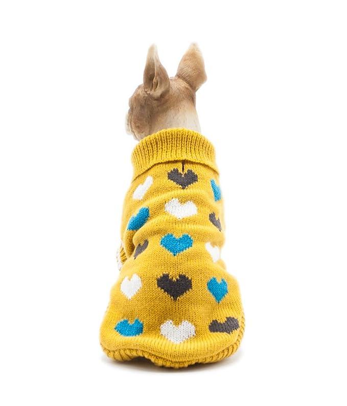 YiJee Cachorro Perro Cálido Ropa De Punto Mascota Navidad Suéteres ...