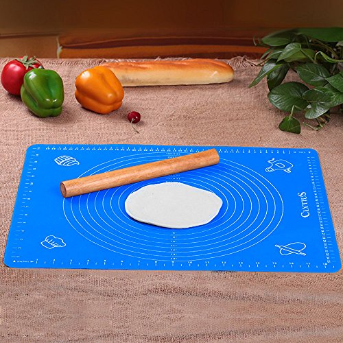 Clytius Large – Silicone Premium quality Baking Mat for Pastry Rolling with Measurements(40×50cm),Chef Special,Non Stick,Non Slip,- Best Kitchen Gadget (Pack of 1)