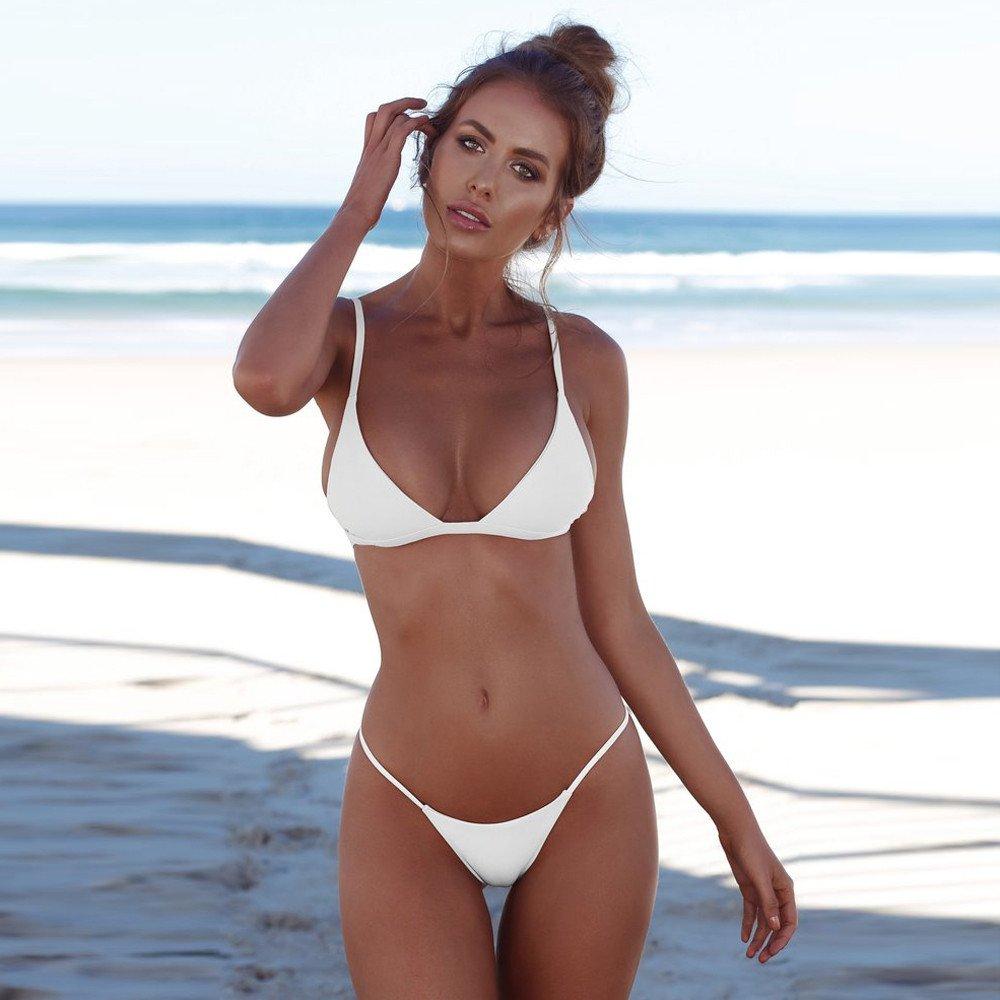 Innerternet Costume da Bagno Donne Costumi da Bagno Beachwear Due Pezzi Push-Up Reggiseno Imbottito Bikini Set da Spiaggia