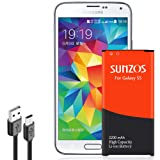 Amazon Price History for:Galaxy S5 Battery, SUNZOS 3200mAh Li-ion Replacement Battery for Samsung Galaxy S5/S5 Active [ I9600, G900F, G900V ( Verizon) , G900T ( T-Mobile ), G900A ( AT&T ),G900P(Sprint)] [3 Years Warranty]
