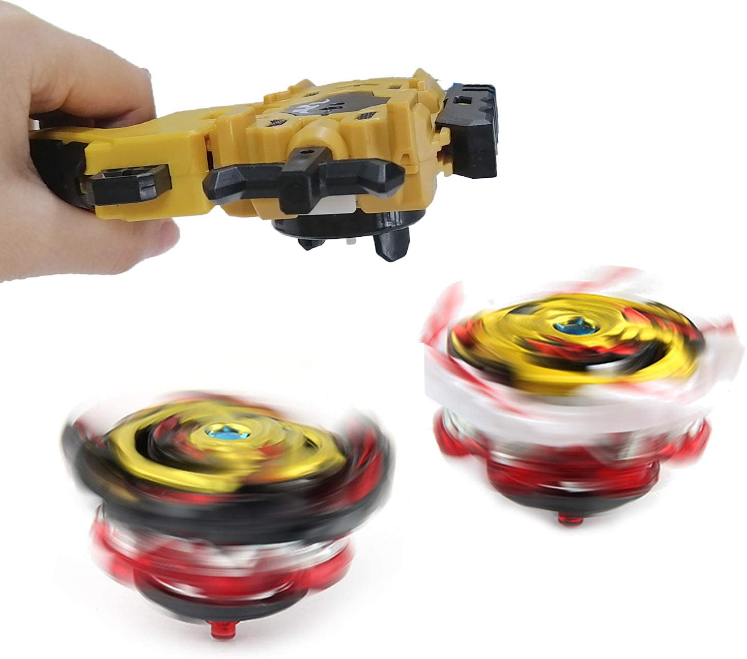 Beyblades Launcher and Grip Light Sparking Battling Burst String Launcher Gyro Left/&Right LR Spin Top Compatible with All Bey Burst Series Bey Battling Beyblades Gold