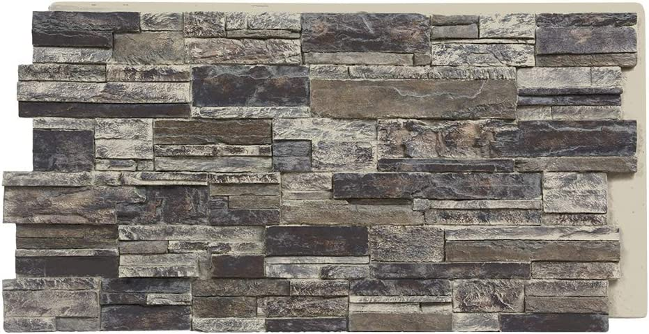 Sedona Faux Stone Panels - Slate Gray - 1-Pack - Each Panel is 24