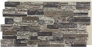 Sedona Faux Stone Panels - Slate Gray - 1-Pack - Each Panel is 24