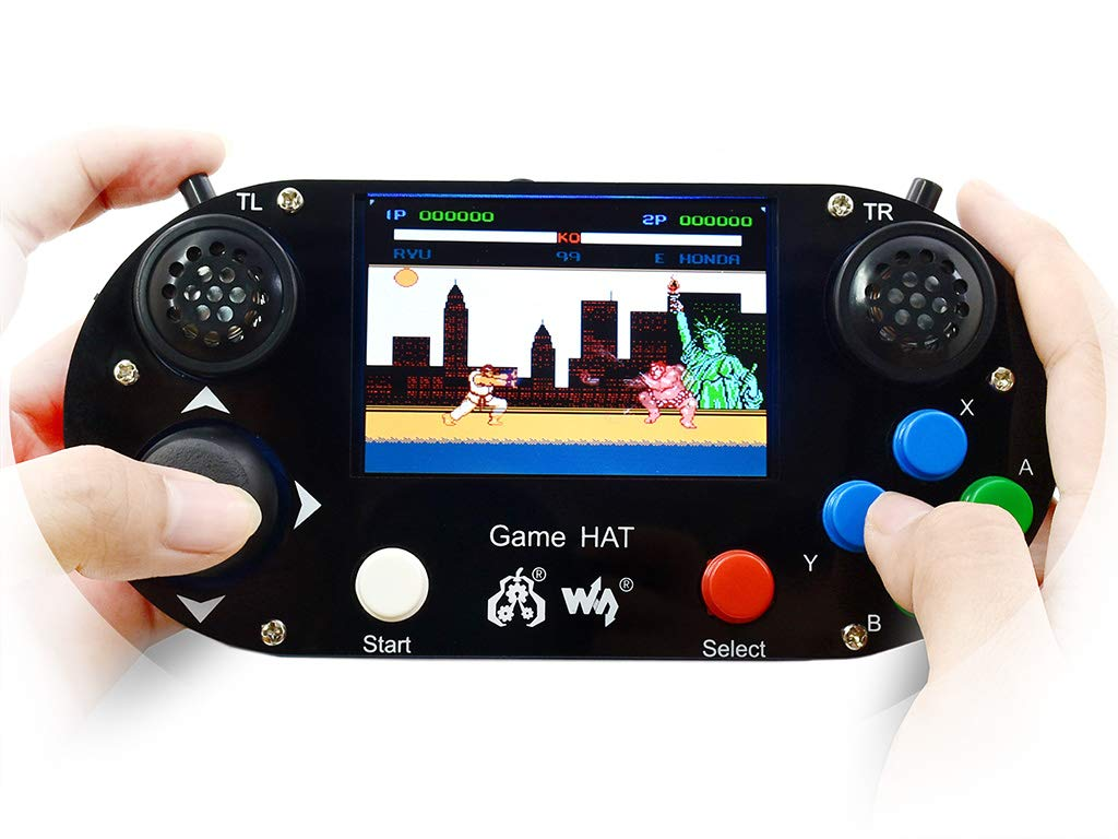 Waveshare Game Hat Raspberry Pi A+/B+/2B/3B/3B+ 3.5inch IPS Screen 480 320 Resolution 60 Frame Experience Make Your Own Game Console