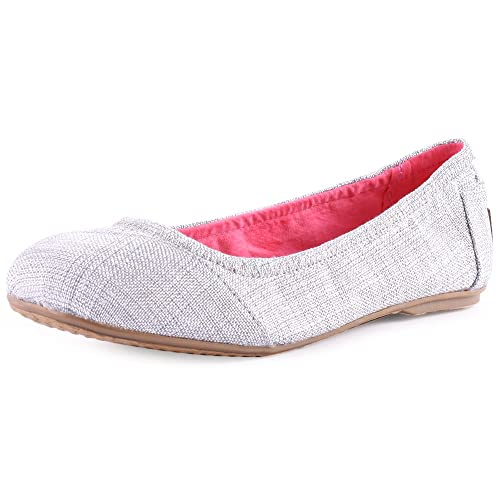 TOMS - Zapatillas de Tela para niña, Color Plateado, Talla 37 EU Niños: Amazon.es: Zapatos y complementos