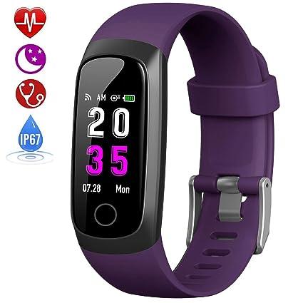 HETP Pulsera de Actividad Inteligente, Reloj Inteligente Hombre Mujer con Pulsómetro y Presión Arterial Reloj