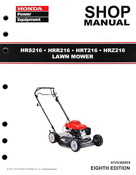 amazon com honda hrr216 hrs216 hrt216 hrz216 mower service repair rh amazon com