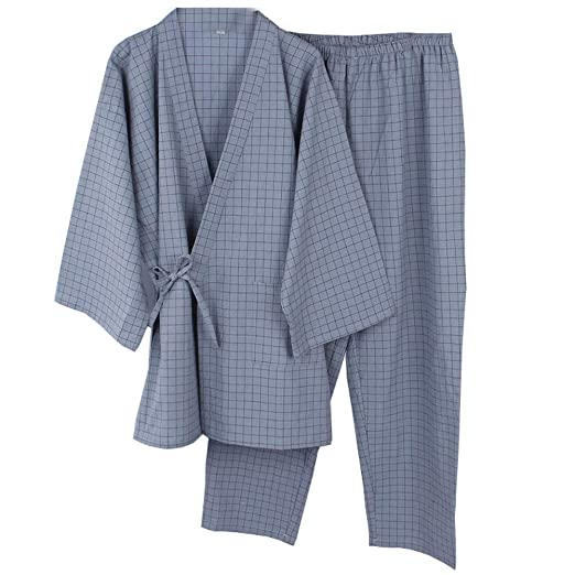 Trajes de Estilo japonés para Hombre Trajes de Pijamas de Kimono ...