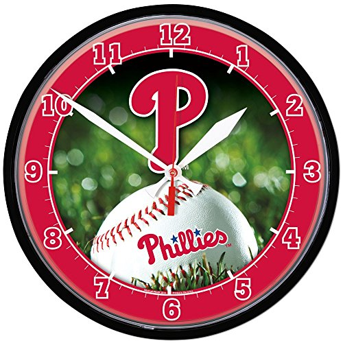 Wincraft MLB 2935714 Philadelphia Phillies Round Wall Clock, 12.75