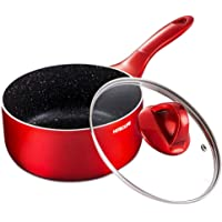 HITECLIFE Saucepan, Nonstick Sauce Pan with Lid 2QT, Chemical-Free Sauce Pots with Stay-cool Handle, Induction…