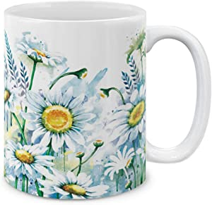MUGBREW 11 OZ Coffee Mug Flowers Plants Garden Variety Designs, Daisies Flowers