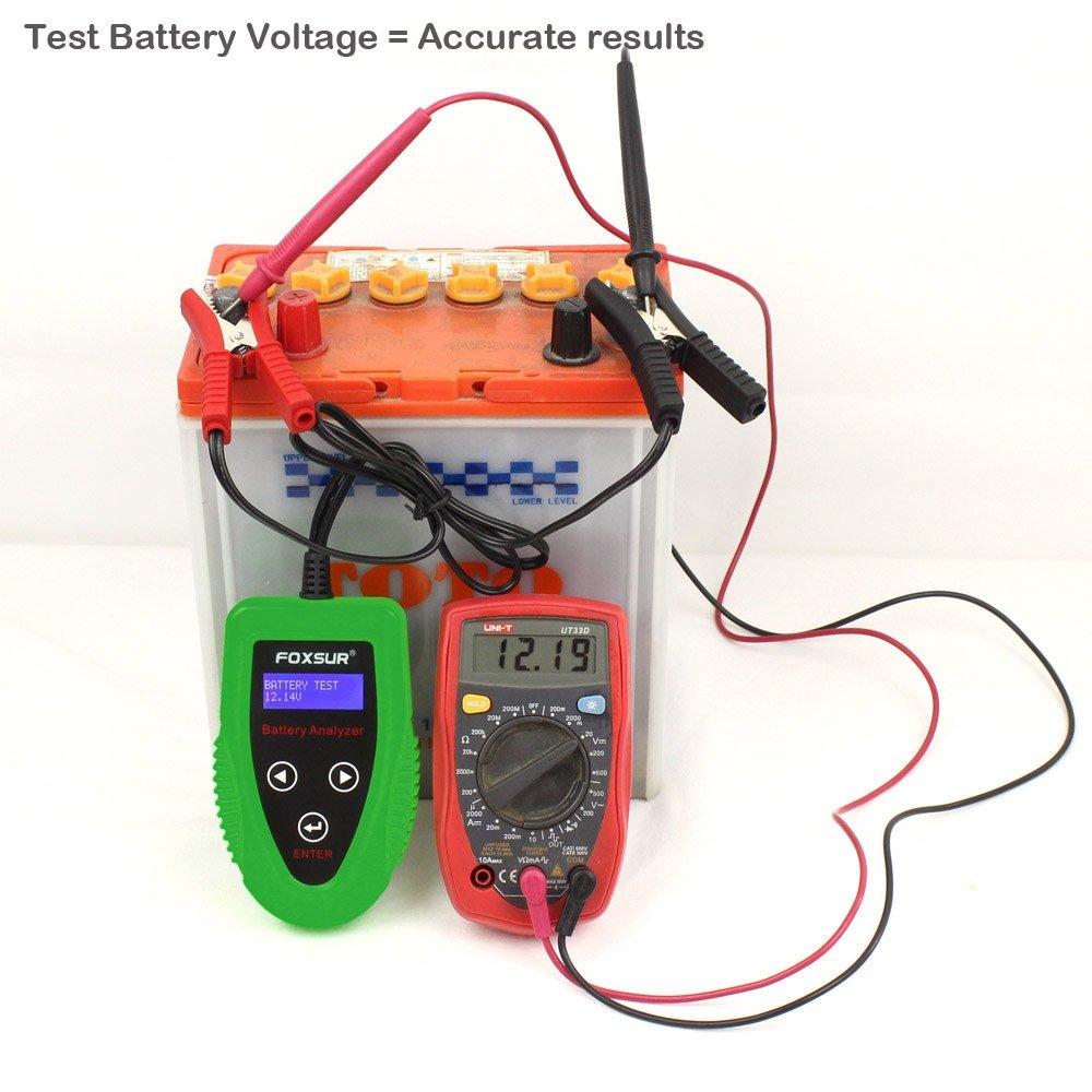 Foxsur Digital 12v Car Battery Tester Starting And Charging System
