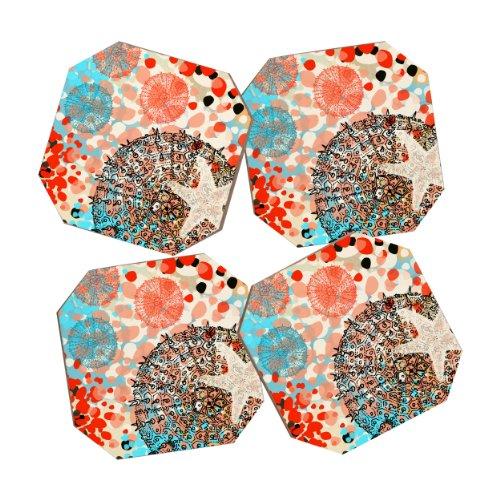 DENY Designs Irena Orlov Exotic Sea Life 1 Coasters, Set of 4