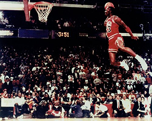 Michael Jordan Unsigned Chicago Bulls Slam Dunk Matte 8x10 Photo #2