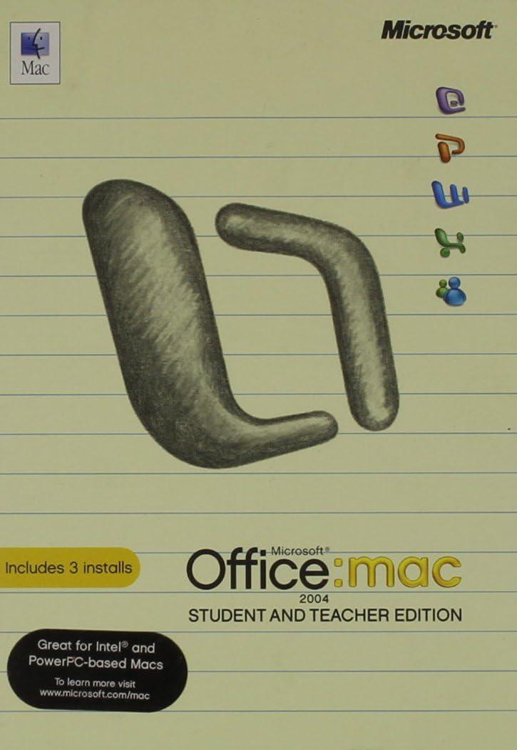 Office Mac Student Teachr 2004 Mac English CD Retail Tech Sku