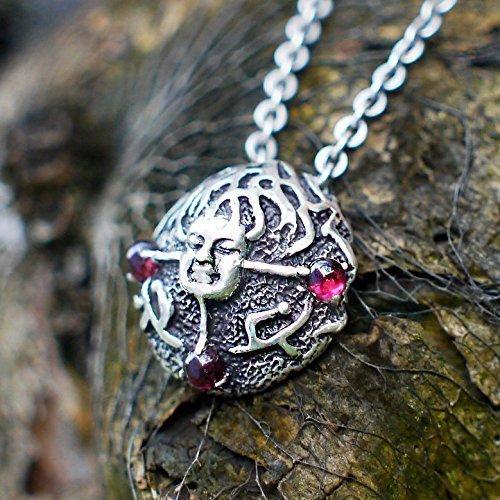 925 Sterling Silver Natural Garnet Pendant