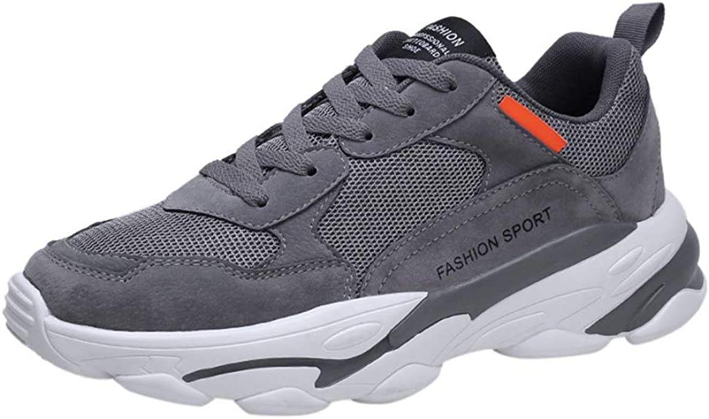 GDfun Mens Walking Shoes Slip on Sneakers Fly Woven Breathable Running Shoes Outdoor Casual Sneakers Anti Slip Shoes