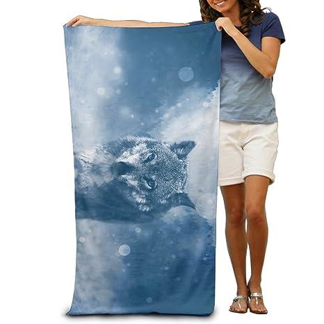 Personalizado lobo presa animales Piscina toalla, toallas de baño para baño, gimnasio, y