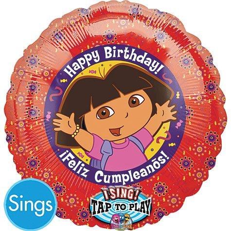 Dora Birthday Singing Balloon, 28
