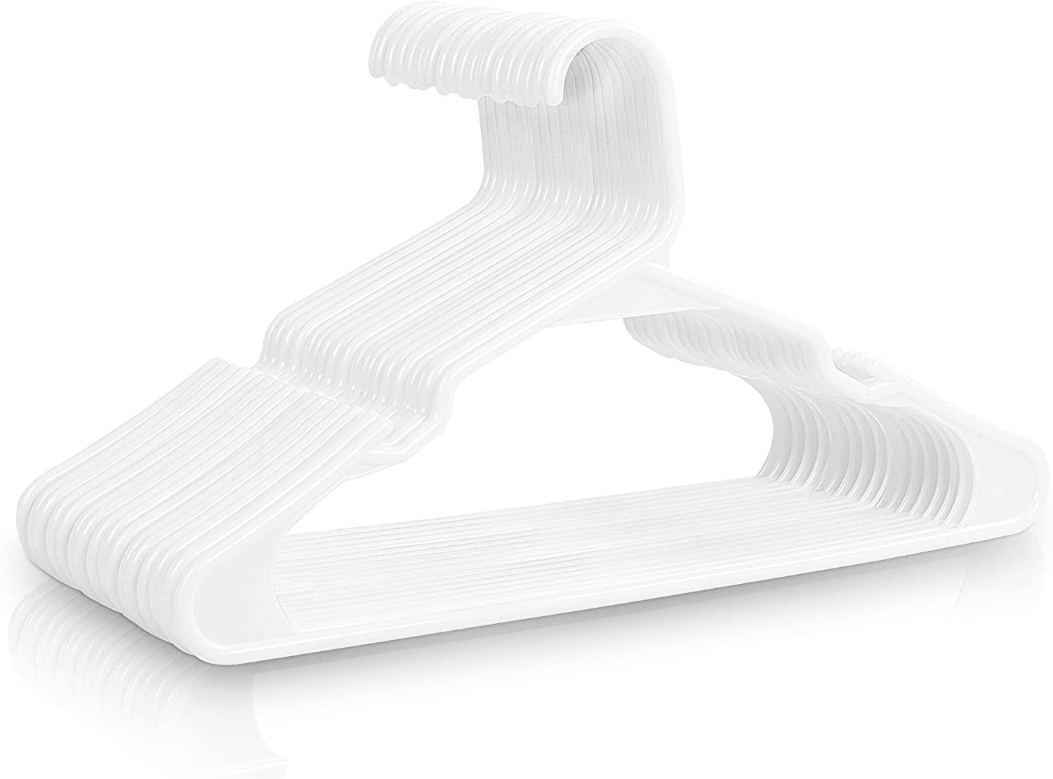 Utopia Home Premium Plastic Hanger - Heavy Duty and Sturdy Plastic Clothes Hanger for Coats, Pants and Shirts - Pack of 40
