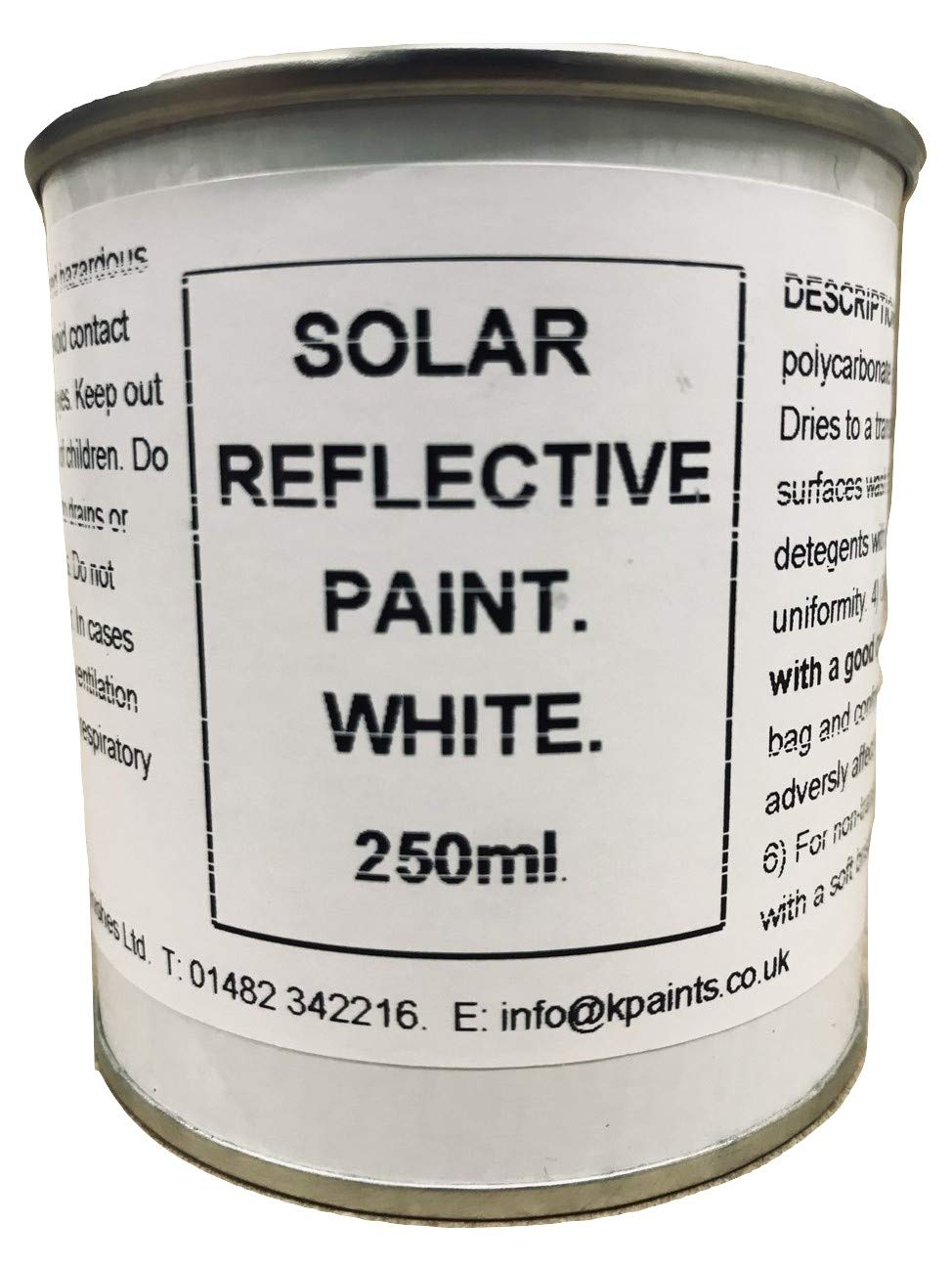 1 x 250ml White Solar Reflect Paint Polycarbonate Glass Conservatory Shading Greenhouse Fascinating Finishes Ltd