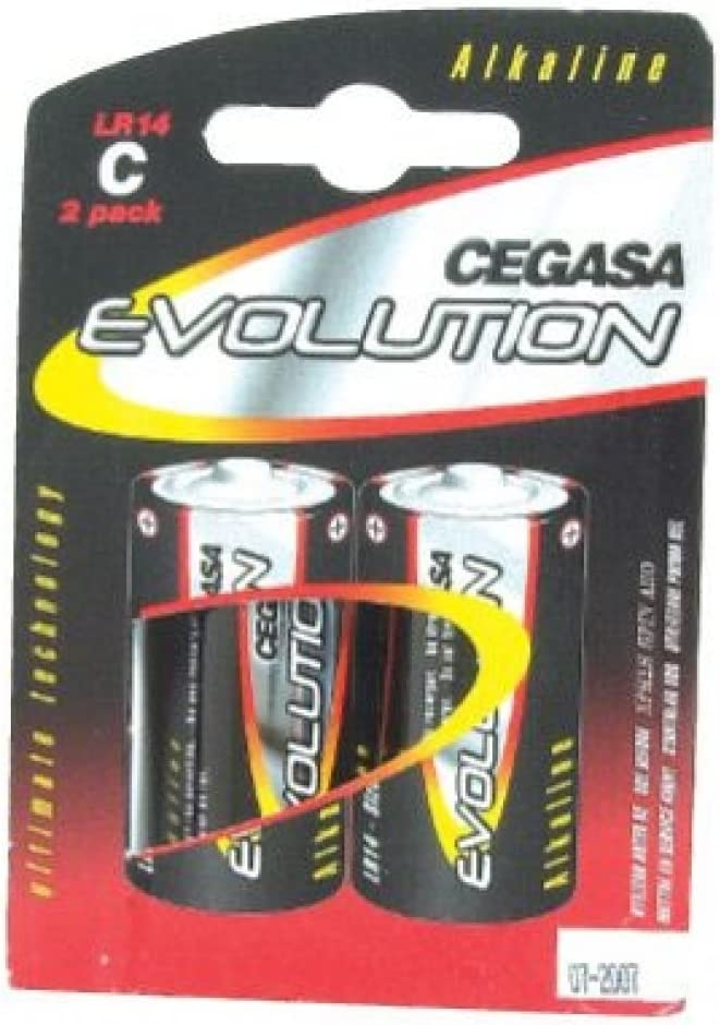 CEGASA Evolution - Pack 2 Pilas LR14, Color Verde: Amazon.es ...