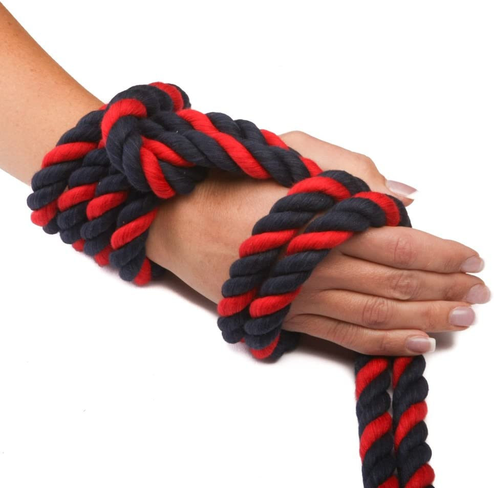Ravenox Colorful Twisted Cotton Rope Made in The USA Macram/é and Indoor Outdoor Use Pet Toys D/écor by The Foot and Diameter Custom Color Triple-Strand Rope and Cordage for Sport Crafts