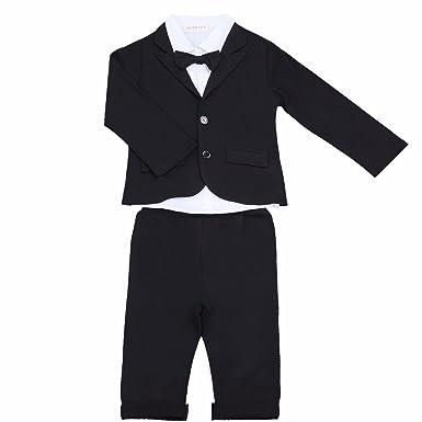 YiZYiF 3 Stück Baby Kinder Jungen Kleidung Set Party Taufe Hochzeit ...