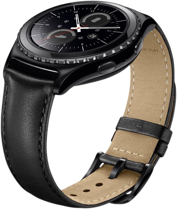 Malla De Cuero Negra Para Samsung Gear S2