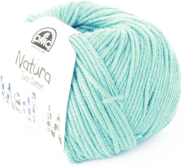 Perles & Co Algodón Natura Medium Just Cotton DMC - Ovillo algodón Azul Aqua x 75m: Amazon.es: Juguetes y juegos