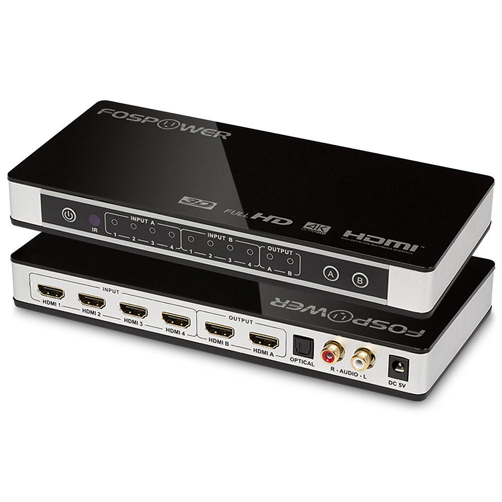 sample invitation letter for chins2 visa%0A Amazon com    x   HDMI Matrix Switch  Ultra HD  K x  K   FosPower   In    Out Switcher   Splitter with Optical  u     L R Audio Output  Support  D     p    ARC