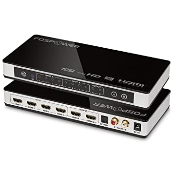Fospower 4 in 2 out 4x2 hdmi matrix switch amazon electronics fospower 4 in 2 out 4x2 hdmi matrix switchsplitter with optical l publicscrutiny Gallery